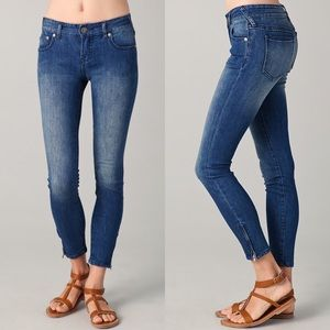 Free People Zipper Skinny Ankle Jeans